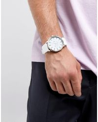 ASOS DESIGN - Asos Oversized Rubberised Watch In Sleek White for Men - Lyst