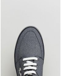 Fred Perry - Stratford Printed Canvas Sneakers In Blue for Men - Lyst