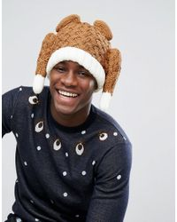 ASOS - Christmas Turkey Beanie In Brown for Men - Lyst
