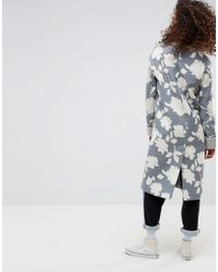 ASOS - Multicolor Asos Oversized Coat With Jaquard Print - Lyst