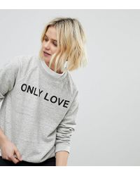 Whistles - Gray Exclusive Only Love Sweater - Lyst