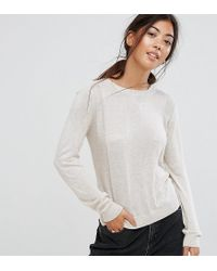ASOS - Multicolor Jumper With Crew Neck And Panel Detail - Lyst