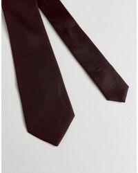 ASOS   Red Tie In Burgundy for Men   Lyst