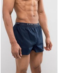 BOSS - Blue By Hugo Woven Boxers 2 Pack In Regular Fit for Men - Lyst
