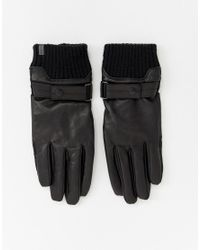 Esprit - Black Gants lgants en cuir for Men - Lyst