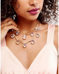 Coast - Metallic Beaded Necklace - Lyst