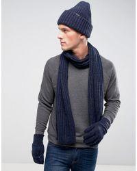 f6c355ecc3c98 G-Star RAW Coffret-cadeau avec bonnet, écharpe et gants homme de coloris  noir