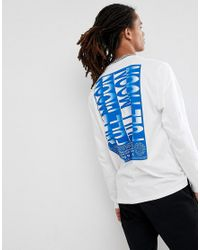 ASOS - White Relaxed T-shirt With Checker Board Rib And Abstract Print for Men - Lyst