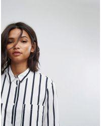 Mango - Blue Stripe Shirt - Lyst