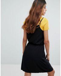 Vero Moda - Black Tie Waist Dress - Lyst