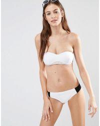 Stella McCartney - White Color Block Bikini Bottom - Lyst