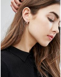 Kingsley Ryan - Metallic Fine Triangle Stud Earrings - Lyst