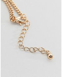 ASOS - Metallic Necklace In Gold Tone With Playing Card Pendants for Men - Lyst
