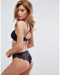 ASOS - Black Asos Ruby Mix & Match Picot Trim Lace Brazilian Pant - Lyst