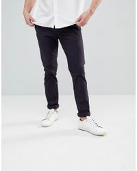 Ted Baker - Blue Slim Fit Chino In Navy for Men - Lyst