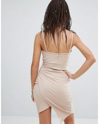 NYTT - Natural Wrap Skirt Bodycon Dress - Lyst