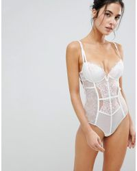 d17adeef13066 Ann Summers Paige Bridal Body in White - Lyst