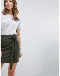 ASOS - Green Design Tailored Obi Tie Mini Skirt - Lyst