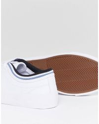 Fred Perry - White Kingston Leather Lace Up Trainer - Lyst