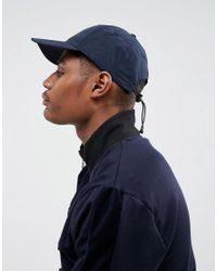 ASOS - Blue Baseball Cap In Navy With Toggle Fastening for Men - Lyst