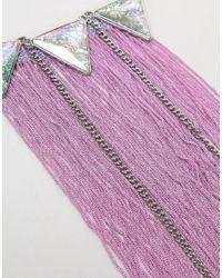 ASOS - Multicolor Design Fabric Tassel Festival Body Harness - Lyst