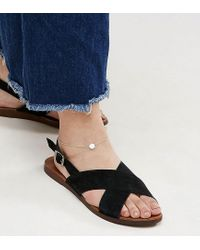 ASOS - Metallic Exclusive Gold Plated Sterling Silver Hexagon Anklet - Lyst