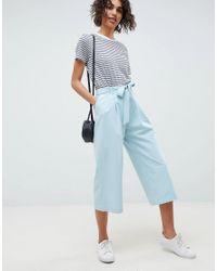 ASOS - Blue Design Mix & Match Culotte With Tie Waist - Lyst