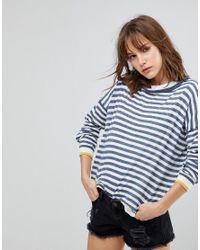 Blend She   Blue Lola Pu Striped Sweater   Lyst