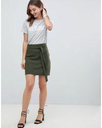 ASOS - Green Tailored Obi Tie Mini Skirt - Lyst