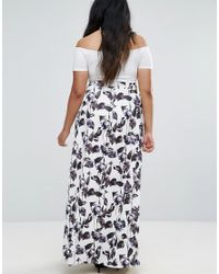 Club L - Multicolor Plus Scuba Prom Maxi Skirt - Lyst