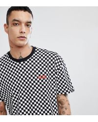 391d42e4787148 Vans Oversized Checkerboard T-shirt In Black Exclusive At Asos in ...