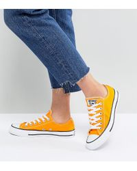 Converse - Chuck Taylor All Star Ox Sneakers In Orange - Lyst