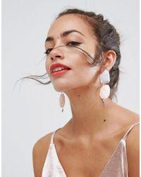 ASOS - Multicolor Double Resin Nugget Earrings - Lyst