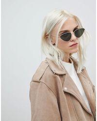 ASOS - Metallic Metal Cat Eye Sunglasses - Lyst
