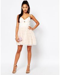 Lipsy - Pink Ariana Grande For Rara Mini Prom Dress - Lyst