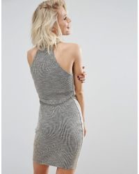 Daisy Street | Gray Bodycon Dress | Lyst