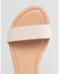ASOS - Natural Fiona Wide Fit Tie Leg Flat Sandals - Lyst