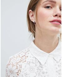 ASOS - Purple Design Twinkle Stone Jewel Earrings - Lyst