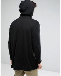 ASOS - Oversized Knitted Hoodie In Black for Men - Lyst