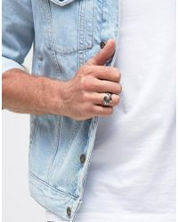 Icon Brand | Metallic Feather Ring In Gold for Men | Lyst