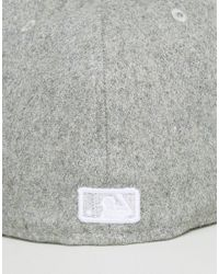 KTZ - Gray 59fifty Ny Yankees Fitted Cap In Melton Wool for Men - Lyst