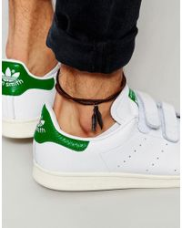 ASOS - Anklet With Feather In Brown Leather for Men - Lyst