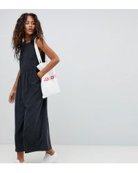 efe3e35a59b ASOS Asos Design Tall Minimal Jumpsuit With Gathered Waist And Wide ...