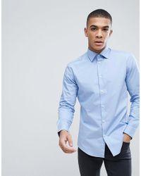 3ca3b270 Esprit Slim Fit Cotton Poplin Shirt In Light Blue in Blue for Men - Lyst