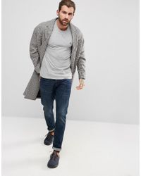 Original Penguin - Small Logo T-shirt Slim Fit In Gray Marl for Men - Lyst