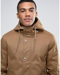 Threadbare - Brown Hooded Coat With Toggles for Men - Lyst