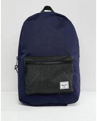 63fa84a7bd3 Herschel Supply Co. Settlement Backpack in Blue for Men - Lyst