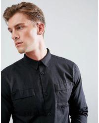 Bellfield - Black Utility Shirt for Men - Lyst