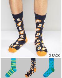 Happy Socks   Blue Hs By 3 Pack for Men   Lyst