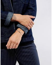 ASOS | Metallic Ditsy Bangle & Ring Pack In Burnished Silver for Men | Lyst